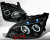 Image of SpecD Black CCFL Halo LED Projector Headlights Ford Focus 05-07