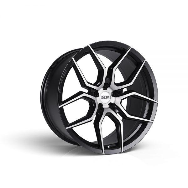 3SDM Brushed Satin Black 0.50SF Flow Formed Wheel 20x11.5 5x112 +42mm - 3SDM-50SF-20115-5X112+42