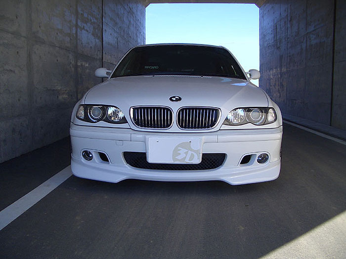 3D Design Urethane Front Lip Spoiler BMW 3 Series E46 M-Sport Sedan 99-05