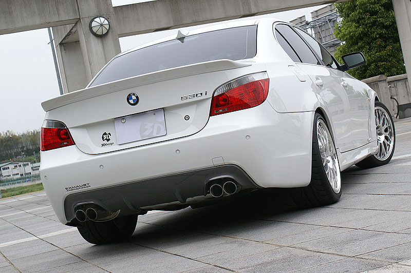 3D Design Carbon Fiber Rear Diffuser Dual Exhaust BMW 5 Series E60 E61 M-Sport 06-10 - 3108-16021