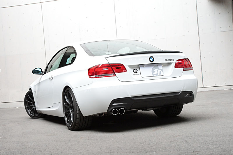 3d Design Carbon Fiber Rear Diffuser 2 Tip Exhaust Bmw 3