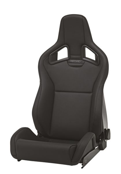 Recaro Sportster CS Right Seat Black Vinyl|Black Vinyl Grey Logo - 410.00.2132