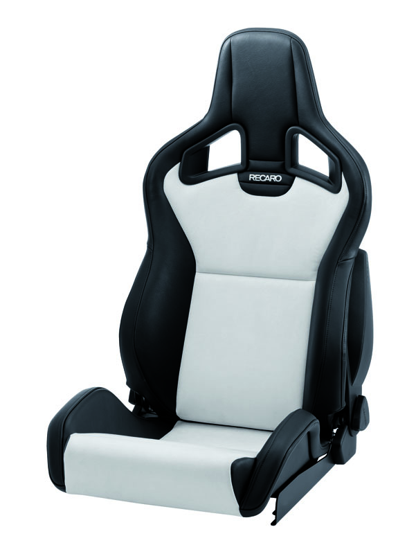 Recaro Sportster CS with Heat Right Seat Black Vinyl|Silver Dinamica Silver Logo - 410.10.2588