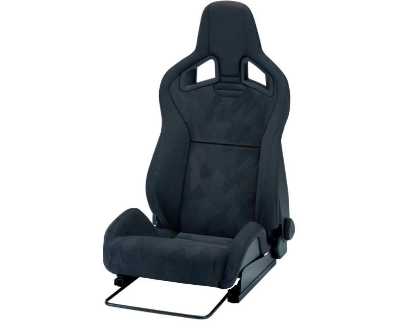 Recaro Driver Cross Sportster CS 3 Point Belt Seat Black Nardo | Black Artista with Grey Logo - 414.00.1351