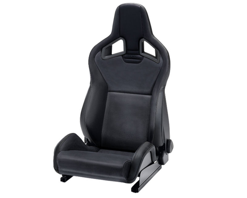 Image of Recaro Driver Sportster CS Seat with Heat 3 Point Black Leather Black Leather with Black Logo