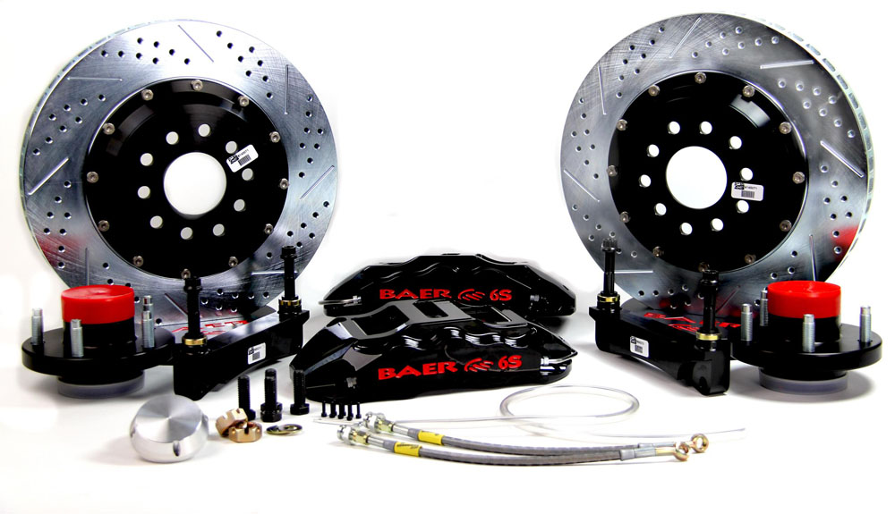 Brake System 14 Inch Front Extreme+ Black 70-72 Mopar/Dodge/Plymouth E And  B Body BAER Brakes