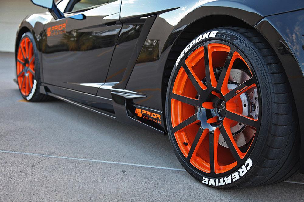 Prior Design Edition Side Skirts add Rear Scoop Lamborghini Gallardo 03-08 - 4260609891874