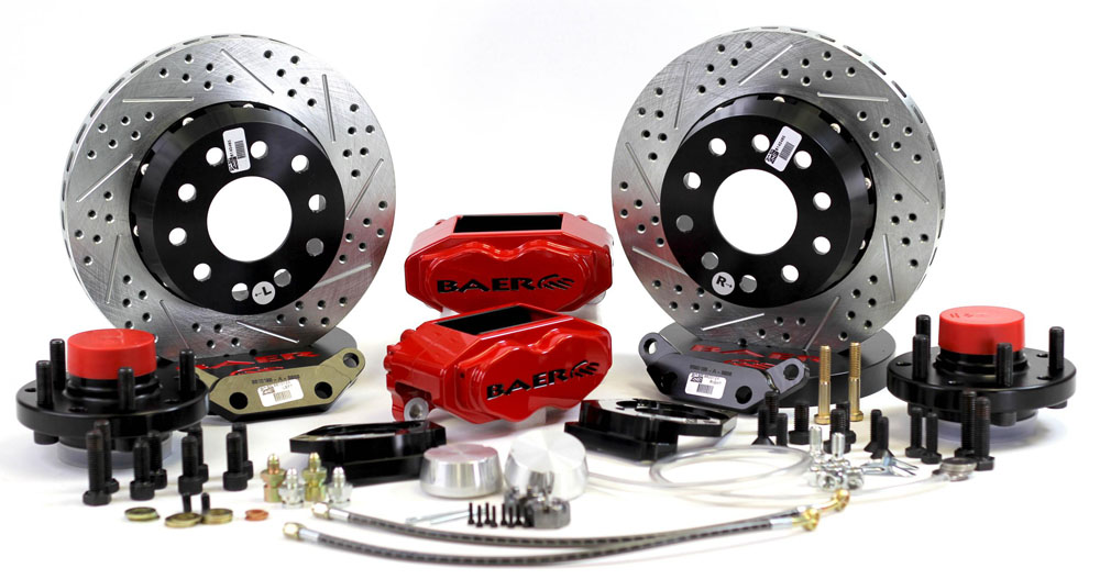 Brake System 11 Inch Front SS4+ Red 37-48 Ford Truck Straight Axle 5 Lug BAER Brakes - 4261354R