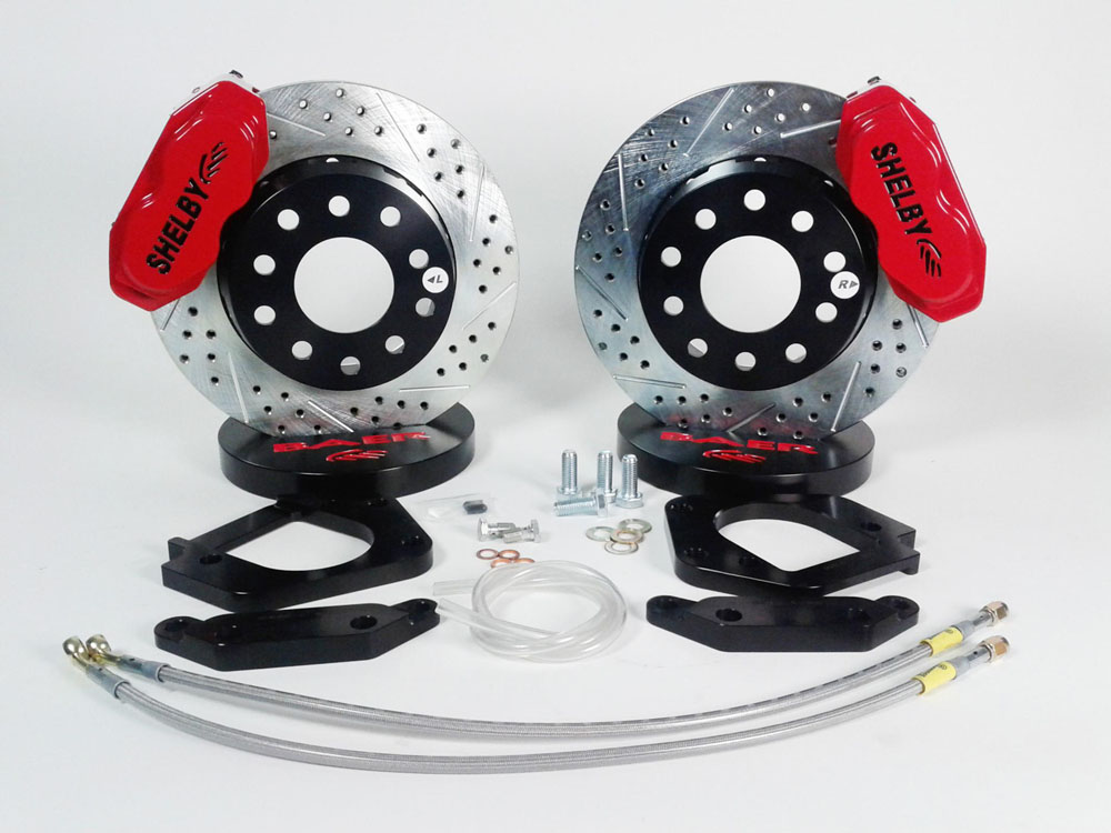 Brake System 12 Inch Front SS4+ Shelby Logo Red Shelby CSX-4000 BAER Brakes - 4261420R