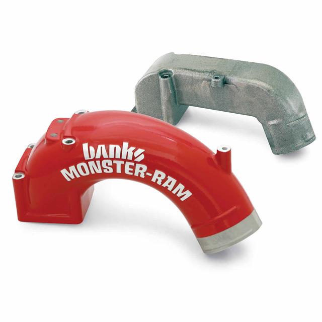 Monster-Ram Intake Elbow W/Boost Tube 98-02 Dodge 5.9L Banks Power - 42764