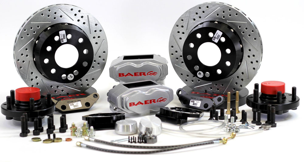 Brake System 11 Inch Front SS4+ No Spindles Silver 78-87 GM G Body BAER  Brakes