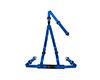 Image of Corbeau Double Release Harness Belt Blue 3 Point Bolt-In 43205B