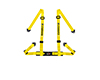 Image of Corbeau Harness Belt Yellow 4 Point Bolt-In 44003B