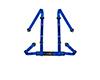 Image of Corbeau Harness Belt Blue 4 Point Bolt-In 44005B