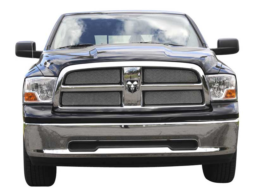 Ram 1500 Grille 09-12 Dodge Ram 1500 Stainless Chrome 4 Piece Sport Series T-REX Grilles - 44456