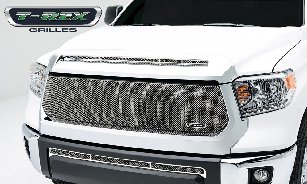 Tundra Grille 14-17 Toyota Tundra Stainless Chrome 1 Piece Sport Series T-REX Grilles - 44965