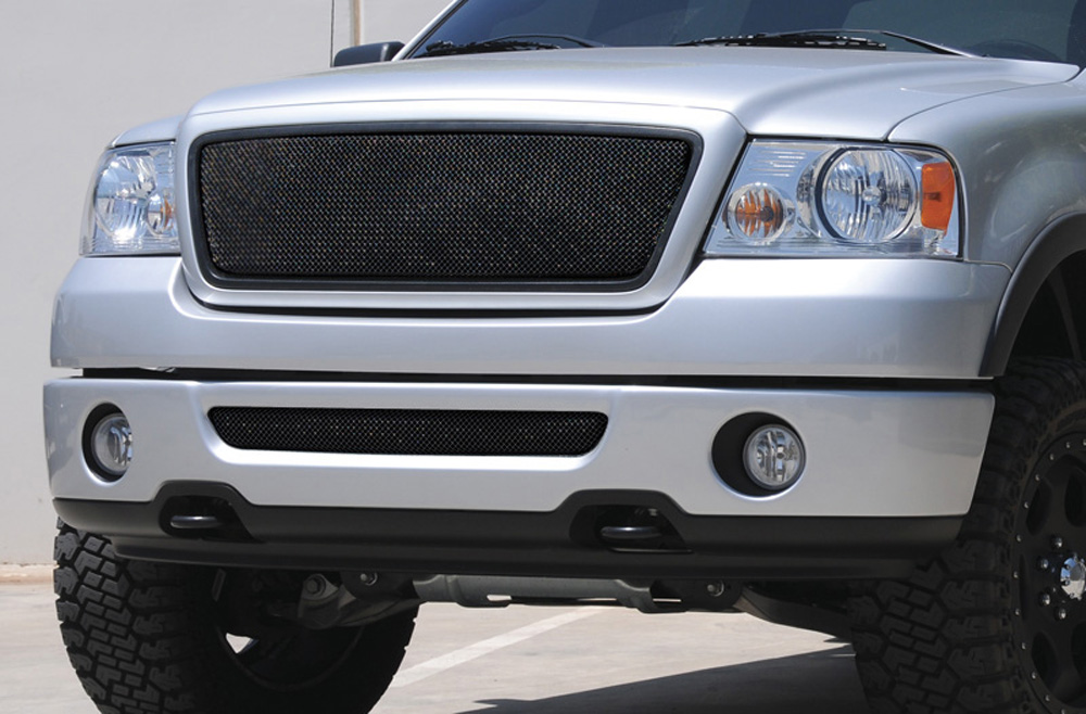 F-150 Grille 04-08 Ford F-150 Mild Steel Powdercoat Black Sport Series T-REX Grilles - 46557