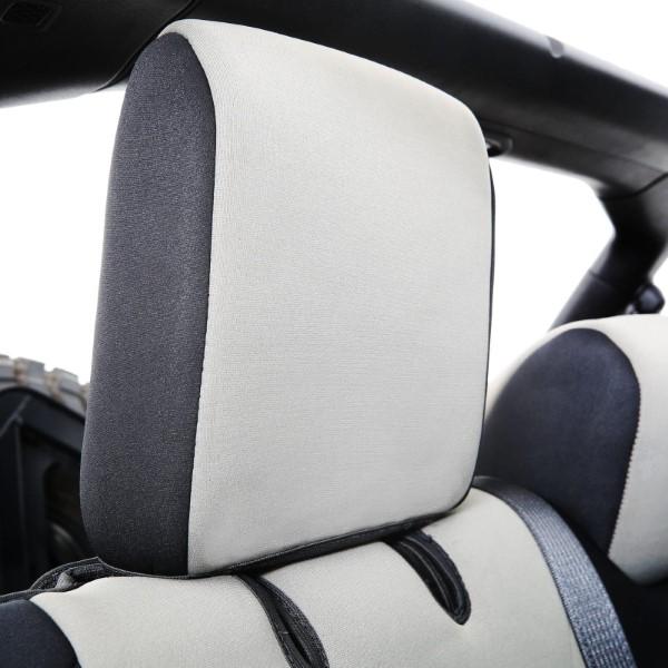 Prime Jeep Jl Neoprene Front And Rear Seat Cover Set Wrangler Jl 4 Door Black Gray Smittybilt Short Links Chair Design For Home Short Linksinfo