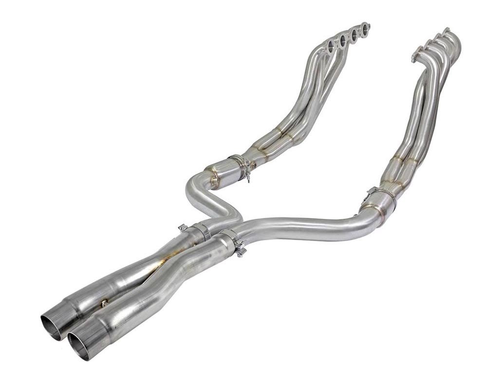 aFe Twisted Steel 304 Stainless Steel Street Series Long Tube Header and Connection Pipes - 48-34143-YC