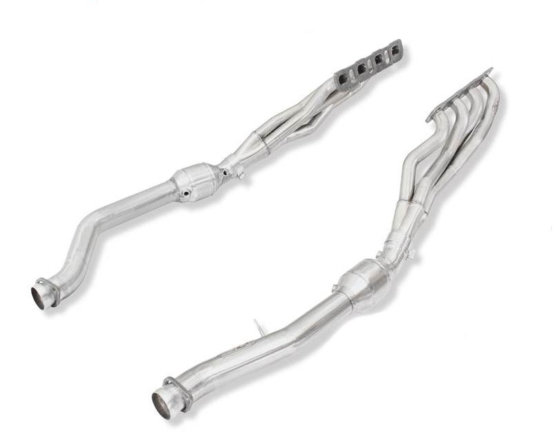 aFe Power Twisted Stainless Steel Long Tube Headers and Connection Pipe with Catalytic Converters Exhaust System Jeep Grand Cherokee SRT | SRT-8 6.4L HEMI 11-15 - 48-36211-YC