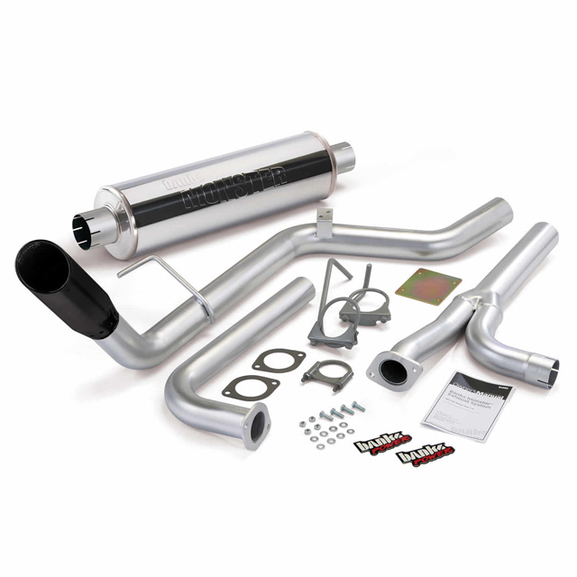 Banks Power Black Tip Single Exit Monster Exhaust System Nissan Frontier All Cab/Beds 4.0L 2004-2015 - 48125-B