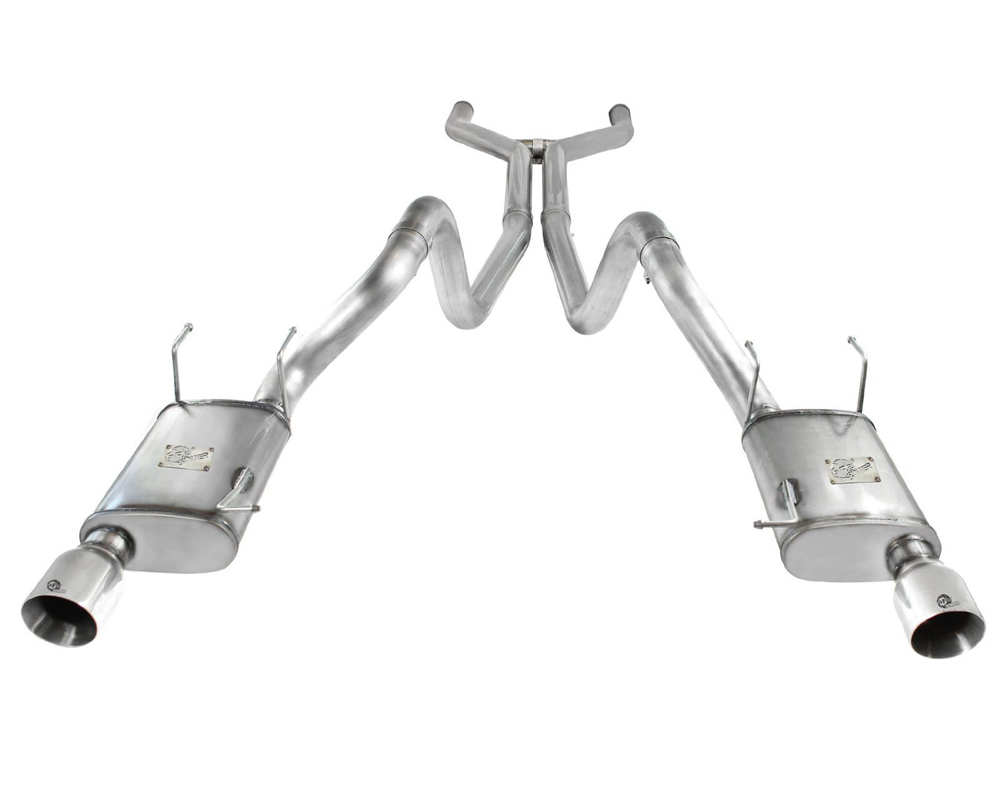 aFe MACH Force XP Catback Exhaust with Polished Tip Ford Mustang GT 5.0L 11-14 - 49-43049-P
