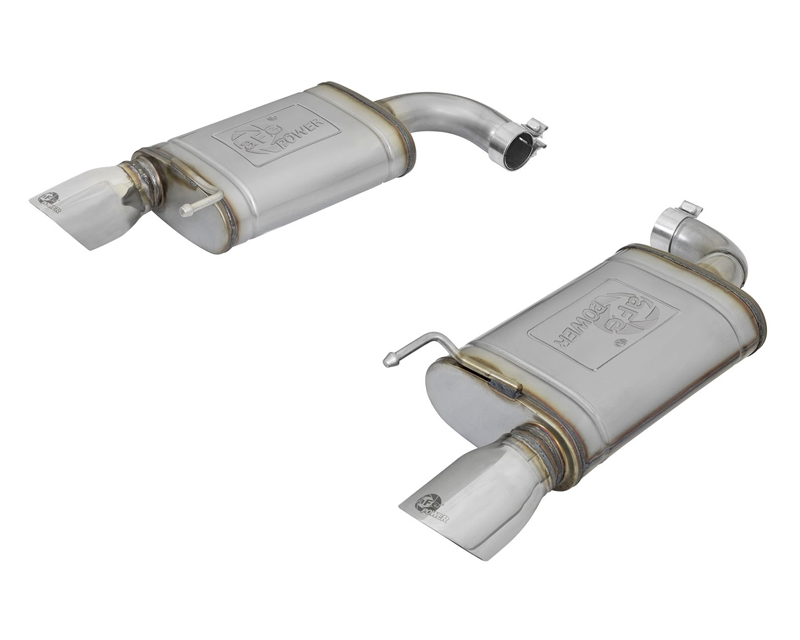 """aFe POWER  MACH Force-Xp 2-1/2"""" 409 Stainless Steel Axle-Back Exhaust System Ford Mustang 15-17 - 49-43085-P"""