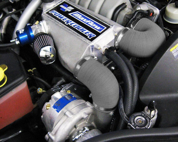Vortech V-3 Si Satin Supercharger System w/ Charge Cooler Jeep Grand Cherokee SRT8 6.1L 06-10 - 4CK218-020L
