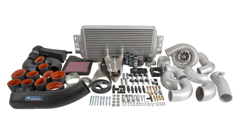Vortech V-2 Ti Satin Tuner Kit with Air/Air Cooler Ford Mustang GT 5.0L 11-14 - 4FQ218-120TSQ