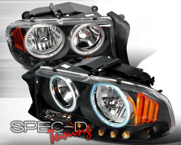 SpecD Black CCFL Halo Headlights Dodge Dakota 97-03 - 4LH-DAK97HJM-KS