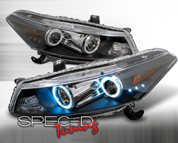 SpecD Black CCFL Halo Projector Headlights Honda Accord 2D 08-09 - 4LHP-ACD082JM-KS