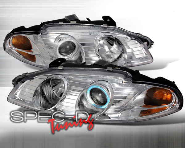 SpecD Chrome CCFL Halo Projector Headlights Mitsubishi Eclipse 97-99 - 4LHP-ELP97-KS