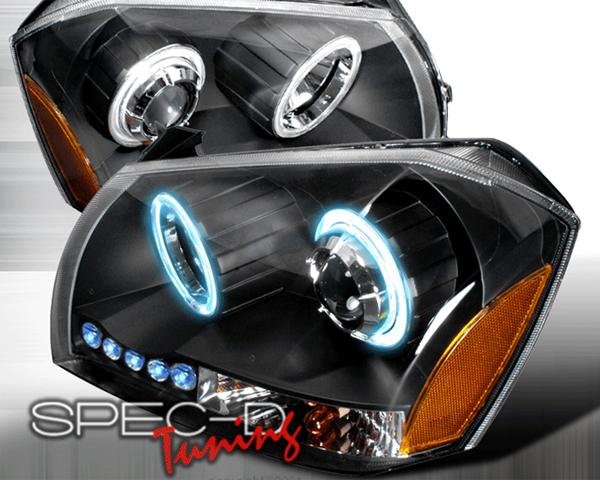SpecD Black CCFL Halo LED Projector Headlights Dodge Magnum 05-08 - 4LHP-MAG05JM-KS