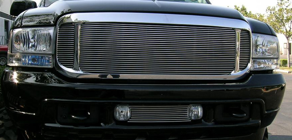 Excursion Grille 00-04 Ford Excursion Aluminum Polished 3 Piece T-REX Grilles - 50575