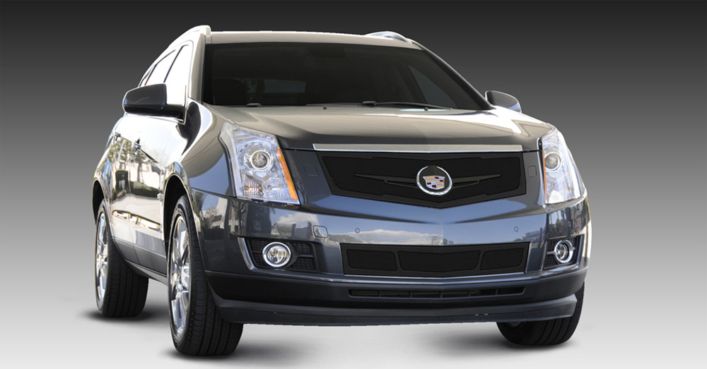 SRX Grille 10-16 Cadillac SRX W/Winged Logo Plate Mild Steel Powdercoat Black Upper Class Series T-REX Grilles - 51186