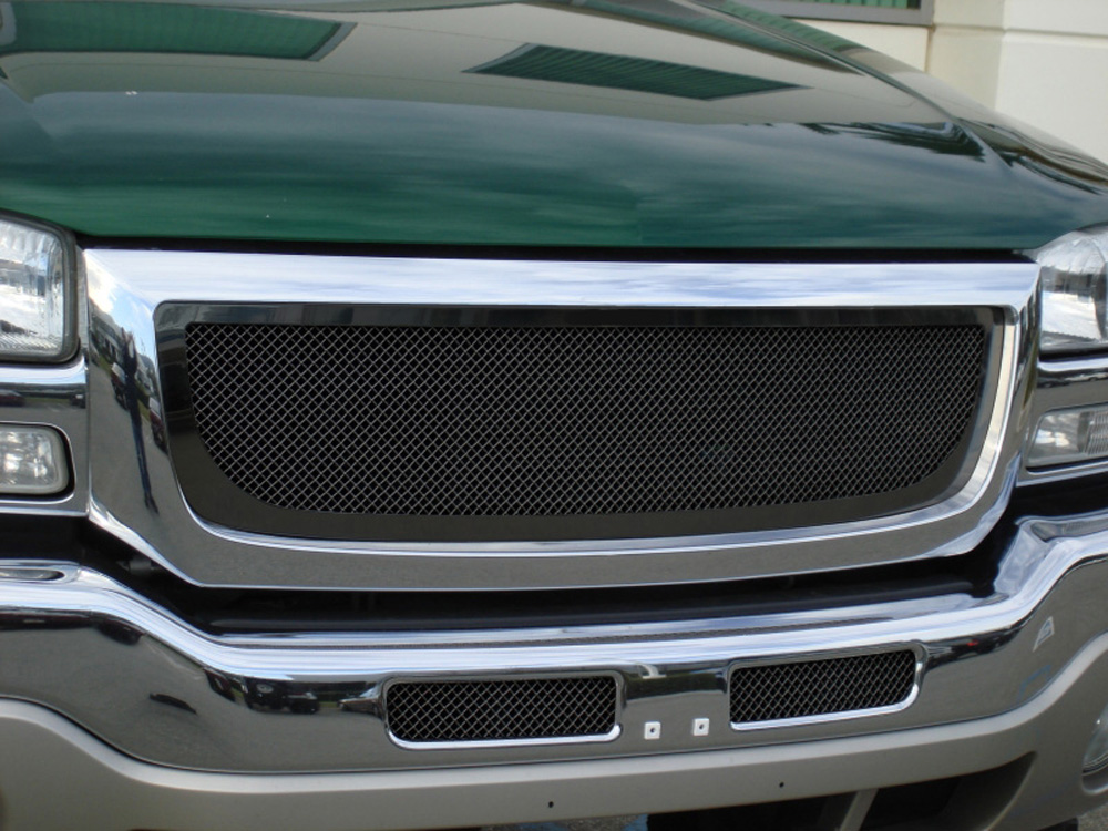 Sierra Grille 03-06 GMC Sierra Mild Steel Powdercoat Black Upper Class Series T-REX Grilles - 51200