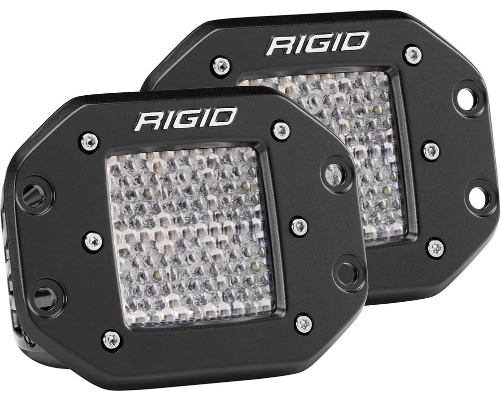 RIGID Industries Diffused Flush Mount Pair D-Series Pro - 512513