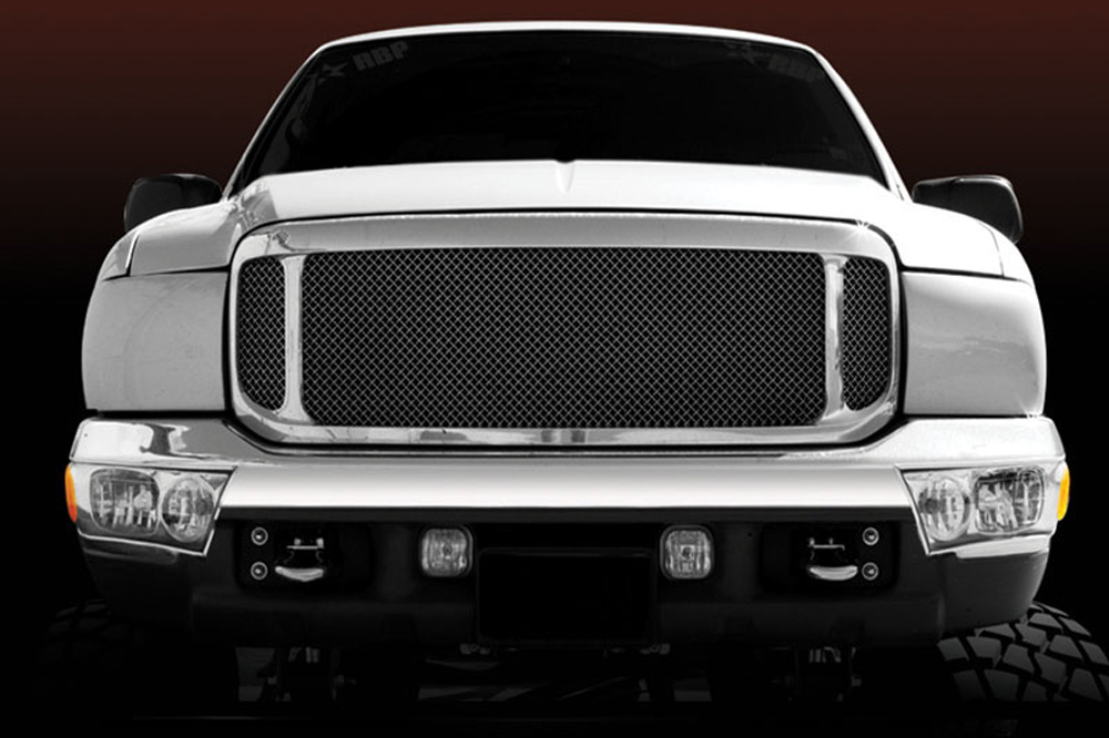 Super Duty Grille 99-04 Ford Super Duty Mild Steel Powdercoat Black Upper Class Series T-REX Grilles - 51571