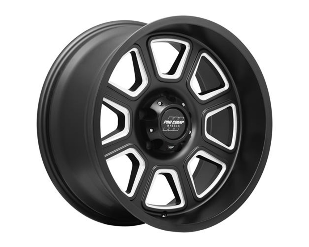 Pro Comp Gunner Series 64 Satin Black Milled Wheel 20x10 6x5.5 -18mm - 5164-218347