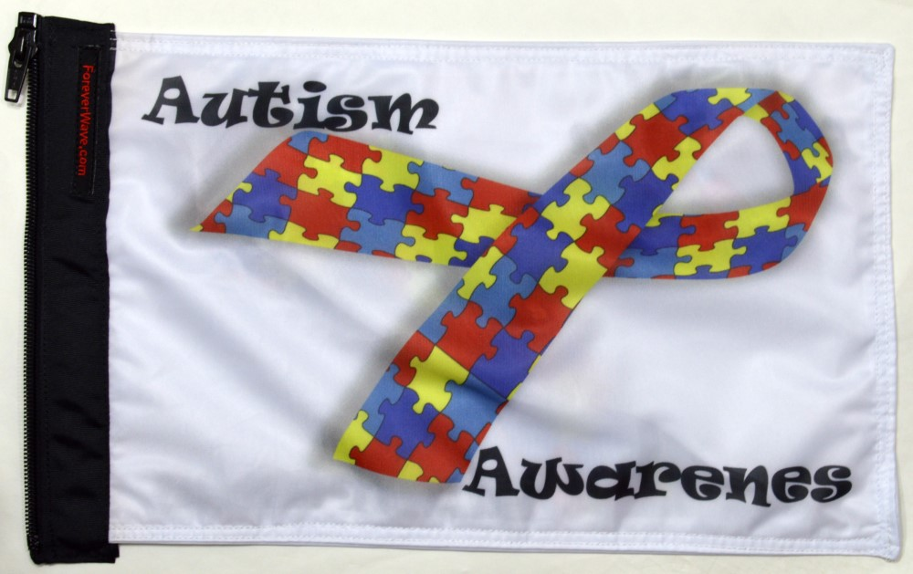 Forever Wave Autism Awareness Flag - 5226