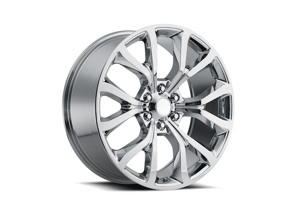 Factory Reproduction Series 52 Wheels 22x9.5 6x135 +44 HB 87.1 Expedition Chrome w/Cap - 52295443601