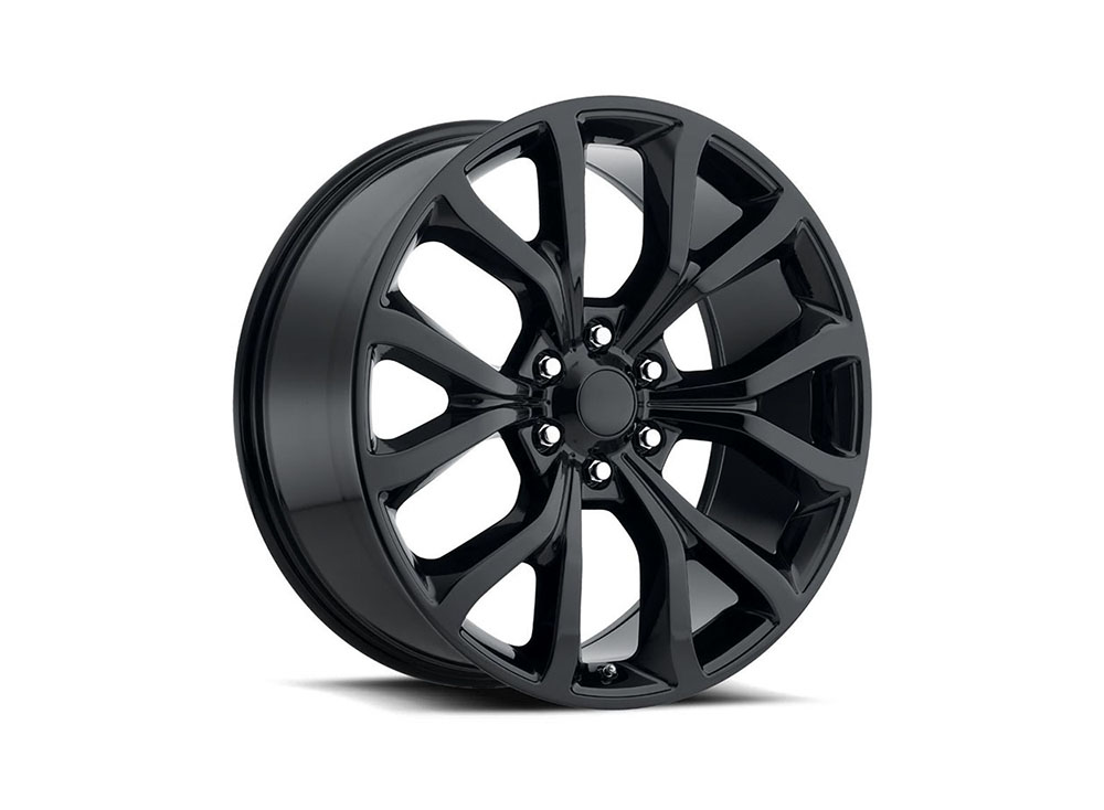 Factory Reproduction Series 52 Wheels 22x9.5 6x135 +44 HB 87.1 Expedition Gloss Black w/Cap - 52295443602