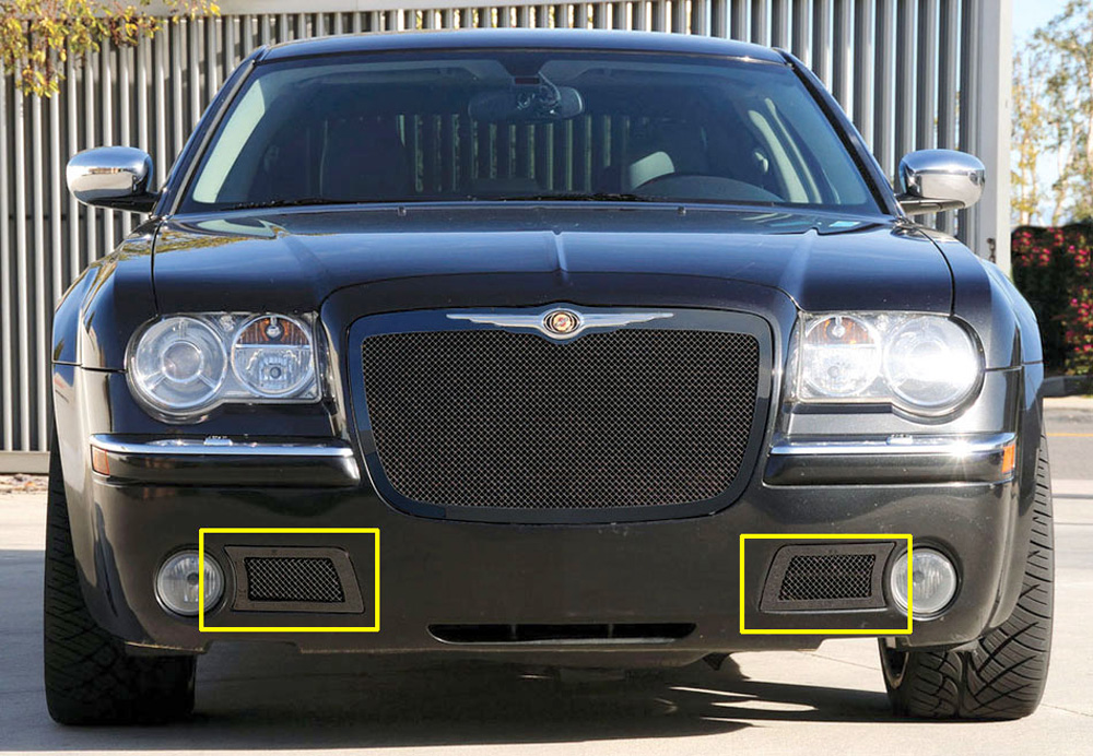 Chrysler 300C Bumper Grille 05-10 Chrysler 300C Mild Steel Powdercoat Black Upper Class Series T-REX Grilles - 52471