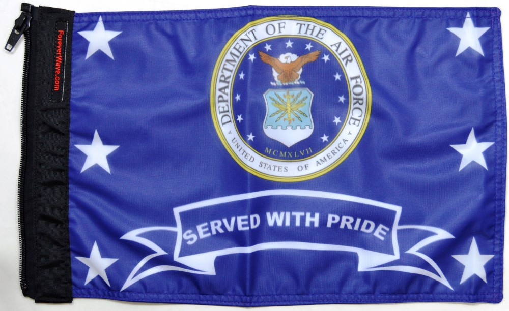 Forever Wave Air Force Served With Pride Flag - 5392