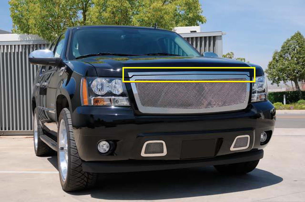 Chevy Hood Trim 07-13 Chevrolet Tahoe/Suburban/Avalanche Stainless Polished T-REX Grilles - 54054