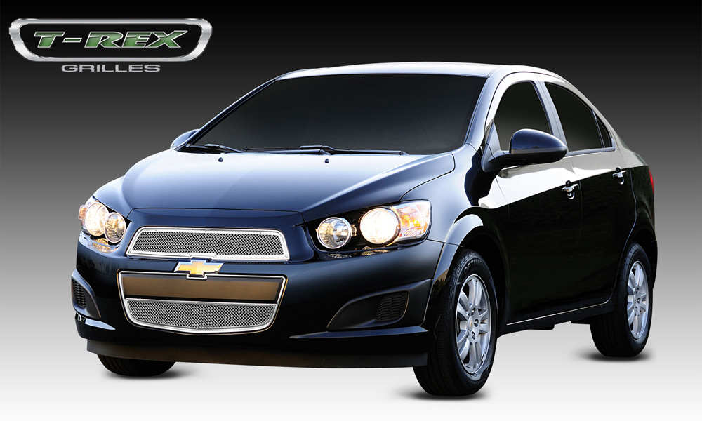 Sonic Grille 12-14 Chevrolet Sonic Stainless Polished 2 Piece Upper Class Series T-REX Grilles - 54132