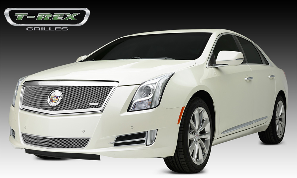 XTS Grille 13-14 Cadillac XTS Main Full Opening Stainless Polished 1 Piece Upper Class Series T-REX Grilles - 54173