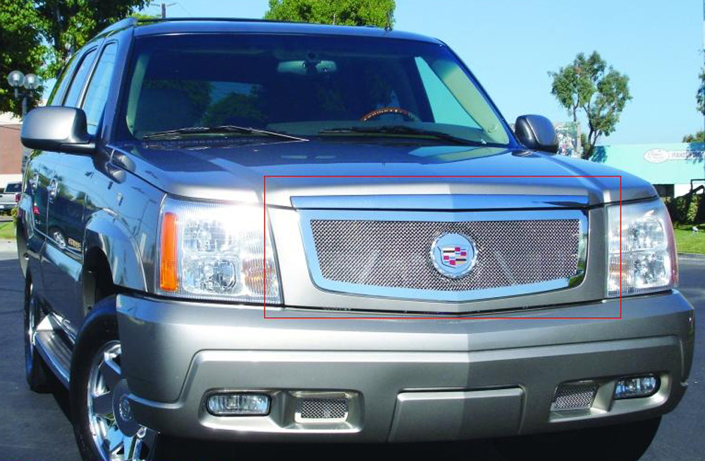 Escalade Grille 02-06 Cadillac Escalade EXT/ESV Stainless Polished Upper Class Series T-REX Grilles - 54182