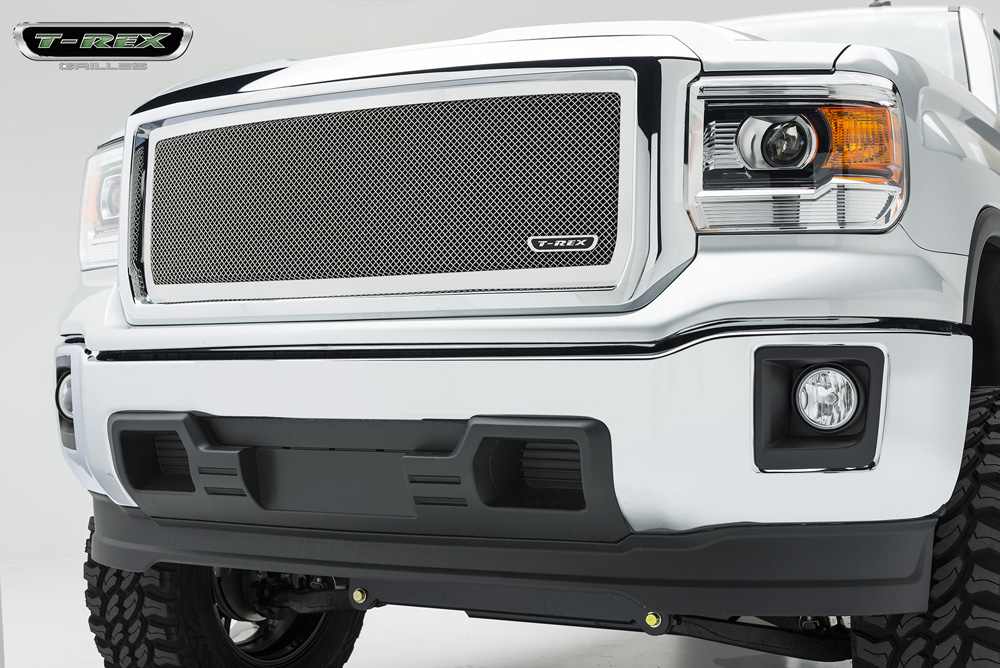 Sierra 1500 Grille 14-15 GMC Sierra 1500 Stainless Polished 1 Piece Upper Class Series T-REX Grilles - 54208
