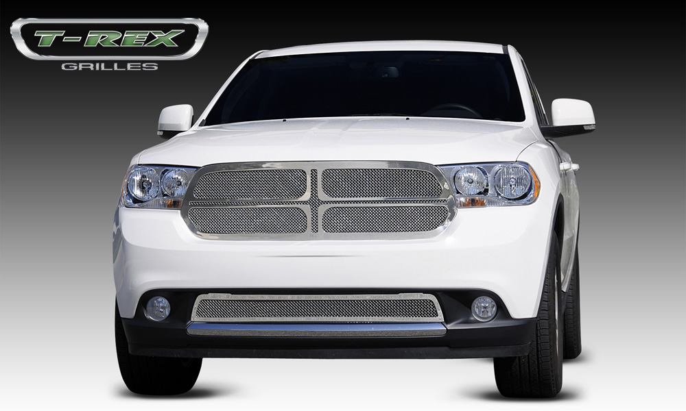 Durango Grille 11-13 Dodge Durango Stainless Polished 1 Piece Upper Class Series T-REX Grilles - 54492